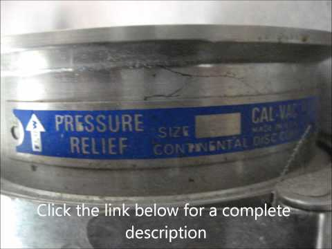 Ingalls Equipment - Continental Disc Corporation Rupture Disc Assemblies, qty. 3