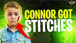 CONNOR GOT STITCHES?! FIRST GAMES OF SEASON 7! (Fortnite: Battle Royale)