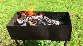Дача 2018. Жарим мясо на мангале