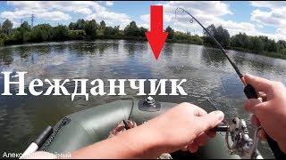Риболовля з човна пвх 2018 на спінінг ультралайт Dragon микроджиг під Києвом на озері в Ірпені та Бучі