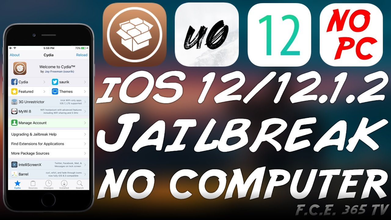 iOS 12 1 2 / iOS 12 HOW TO JAILBREAK WITHOUT A COMPUTER (NO PC / NO 7-Days  Re-Sign)