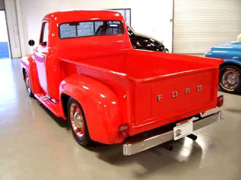 1955 ford f100 fully restored al steel 390 v8 a c and much more rh youtube com