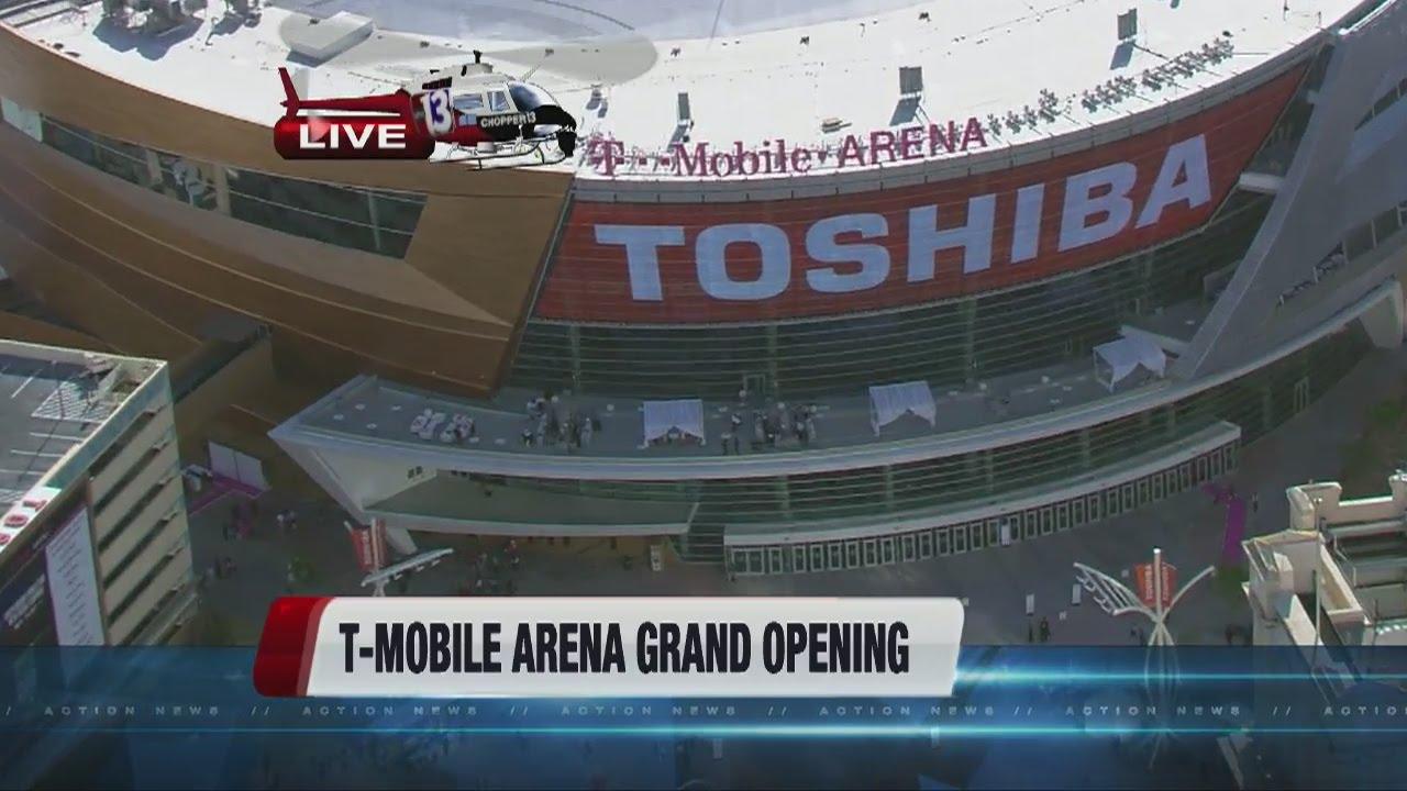 ce31f9504fa3f T-Mobile Arena opens on Las Vegas Strip - YouTube