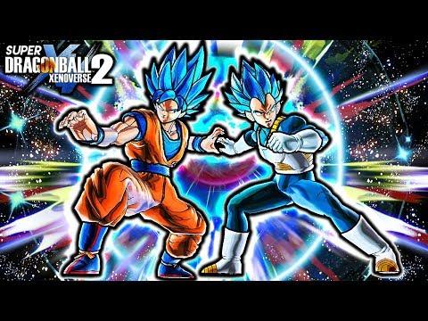 NEW BLUE GOKU & VEGETA DUO FIGHTER FUSION! Dragon Ball Xenoverse 2 Gogeta Blue Fusion Skill Gameplay