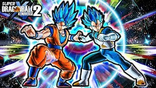 NEW BLUE GOKU & VEGETA DUO FIGHTER FUSION! Dragon Ball Xenoverse 2 Gogeta Blue Fusion Skill Gameplay