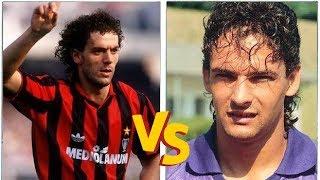 Roberto DONADONI VS Roberto BAGGIO (1990) - Milan x Fiorentina