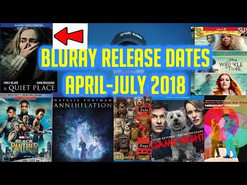 New Bluray Release Dates April-July 2018