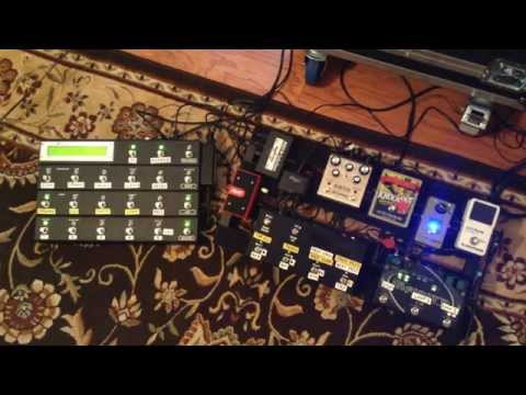 My 2015 Guitar Rig for a Cover Band with Five Preamps and Large Pedalboard