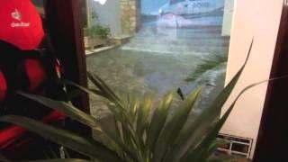 Unwetter (Orkan) in Spanien Mallorca Cala d Or, 29. Oktober