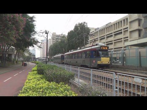 Trams Galore 16: MTR Light Rail Vehicles at Tin King at Tuen Mun Hospital 8/12/14