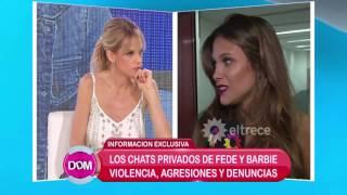 Te mostramos los chats violentos de Fede Bal y Barbie Vélez