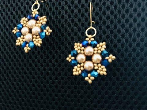 wow Earrings. DIY beaded Earrings.Easy Tutorial