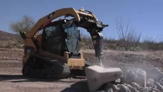 Гидромолот CAT | Обзор Авто | работа гидромолота, смена орудий