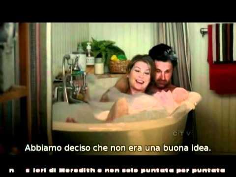 Meredith e Derek nella vasca da bagno 8x17SubIta - YouTube