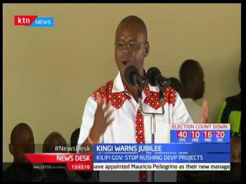 Amason Kingi warns Jubilee against last minute projects