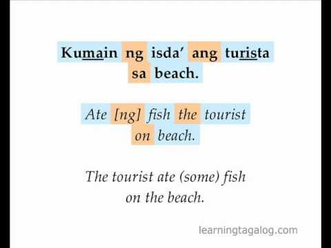 Learn Tagalog 17 | Ang phrases, Ng phrases and Sa phrases