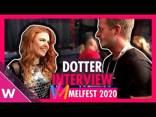"""Dotter """"Bulletproof"""" Melodifestivalen 2020 SF2  (Interview)"""