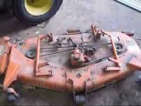 kubota 60inch belly mower deck from b7100 4x4 diesel tractor rc60 rh youtube com Kubota G6200 Deck Kubota G6200 Parts