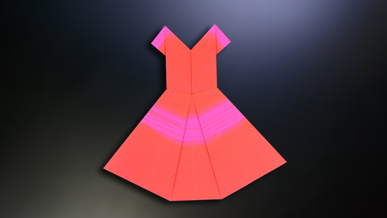 origami dress instructions in english br youtube