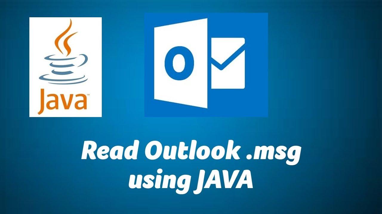 Read Outlook  msg file using JAVA