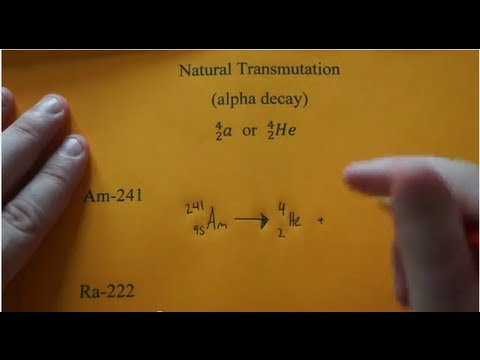 This nuclide is radioactive write a balanced