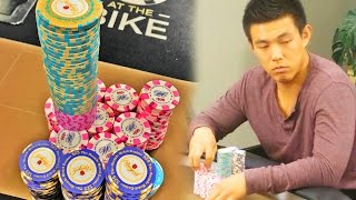 Cooler Flop for Aces with $84,000 on the line!! ♠ Live at the Bike!