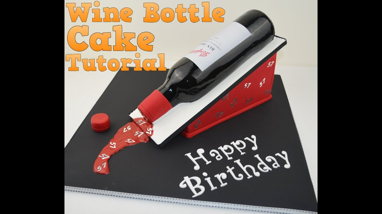 How To Make A 3D Wine Bottle Birthday Cake Tutorial Bake And With Angela Capeski