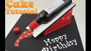 how to make a 3d wine bottle birthday cake tutorial bake and make with angela capeski