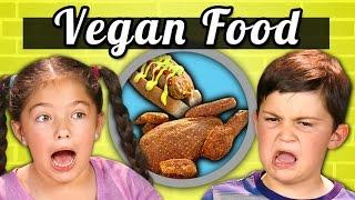 KIDS EAT VEGAN FOOD! (Vegan Shrimp, Chicken, Ice Cream)|Kids Vs. Food by : REACT