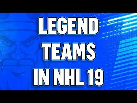 NHL 19 Info - Legend Teams In Play Now/Versus