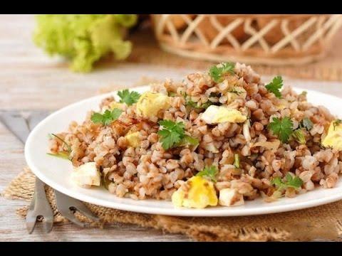 Домашние видео-рецепты - гречка с луком и яйцами в мультиварке