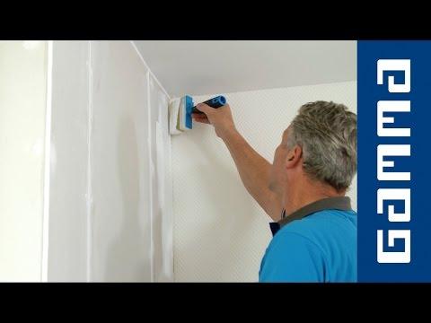Gamma muur gipsplaten schilderen youtube for Wanden nieuwbouwwoning afwerken