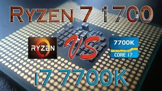 ryzen 7 1700 vs i7 7700k benchmarks gaming tests review and comparison ryzen vs kaby lake