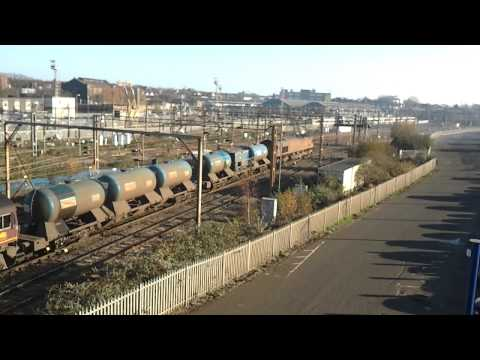 Network Rail Railhead treatment Train Shunting at Willesden Junction on 30/11/11 Part 2