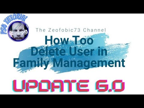 Sony PS4 - How Too Delete a User In Family Management/System Guide.