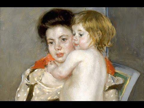Mary Cassatt: Reine Lefebvre Holding A Nude Baby