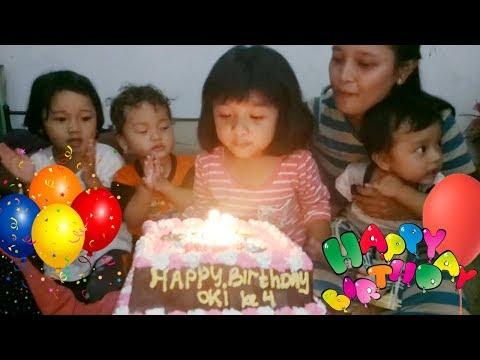 Tiup Lilin Ulang Tahun Happy Birthday Oki Ke 4 Tahun