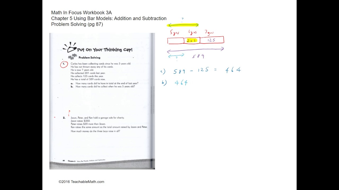 MIF Workbook 3A solutions Ch 5 Using Bar Models Addition ...