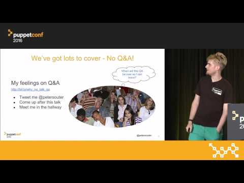 Nice and Secure: Good OpSec Hygiene With Puppet! – Peter Souter at PuppetConf 2016