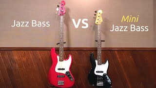 Jazz Bass vs Mini Jazz Bass | Bass Comparison | Shoot Out