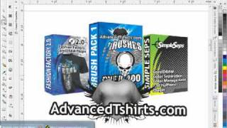 Corel DRAW Tutorial  MMA Fashion T-Shirt Design Pt1