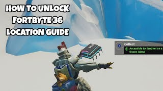 How To Unlock Fortbyte 36 Location Guide | Fortnite Season 9 Challenges
