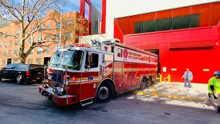 **FIRST RUN** FDNY RESCUE 2 RESPONDING FROM BRAND NEW FIREHOUSE