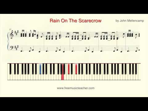 """How To Play Piano: """"Rain On The Scarecrow"""" by John Mellencamp"""