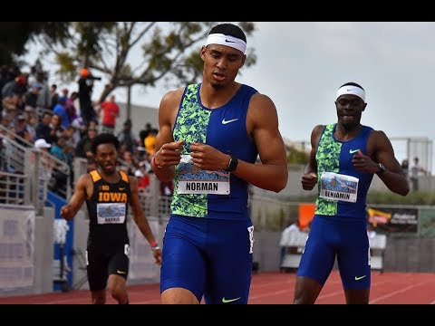 Michael Norman's monster 43.45 at Mt. SAC Relays