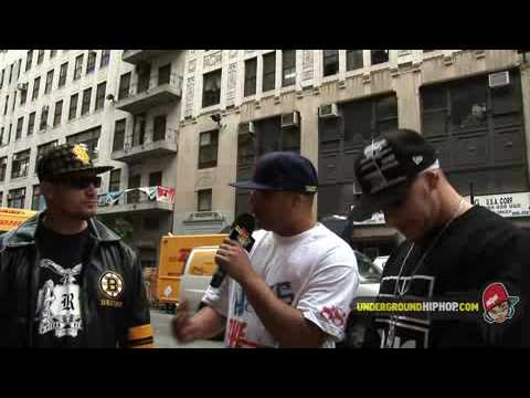 Riviera Regime (Klee Magor   Benny Brahmz) Feat. Necro - Interview (Live On The Streets - New York, NY - 6/4/08)
