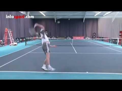 Học Giao bóng Tennis _ TopSpin _ bóng xoáy _ độ nảy cao _ Nặng bóng _