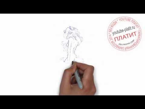 Картинки нарисованные карандашом девушки  Как нарисовать красивую девушку в платье