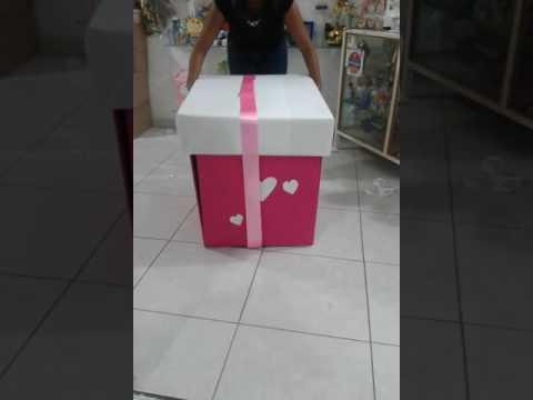 Caja sorpresa quieres ser mi novia youtube - Manualidades con cajas de madera ...