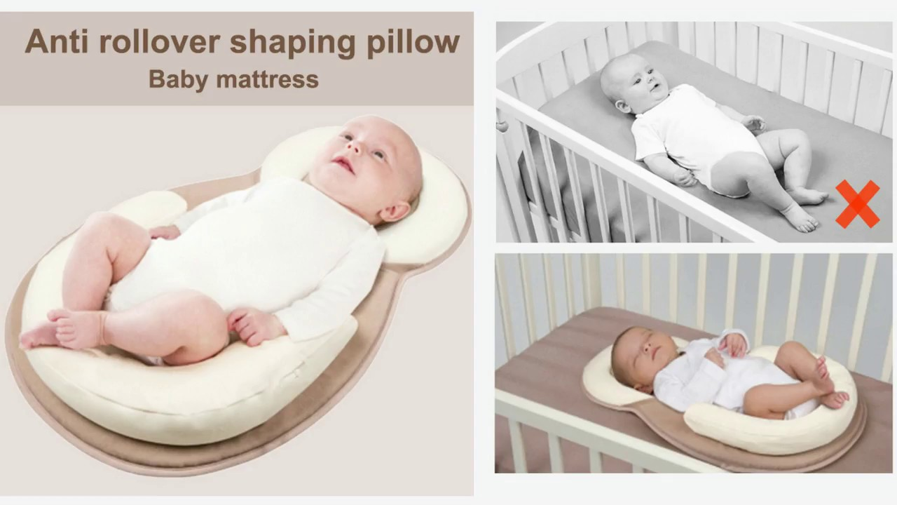 Portable Baby Bed Anti Rollover Shaping Pillow Youtube